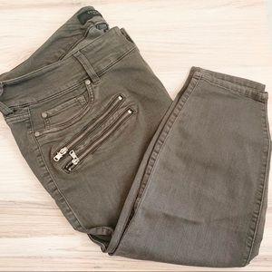 torrid Jeans - Torrid Multi-Zip Dark Gray Wash Jeggings